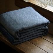 Wool Blankets, 100% Wool Blankets, 100 Percent Wool Blankets, Blue Wool Blankets