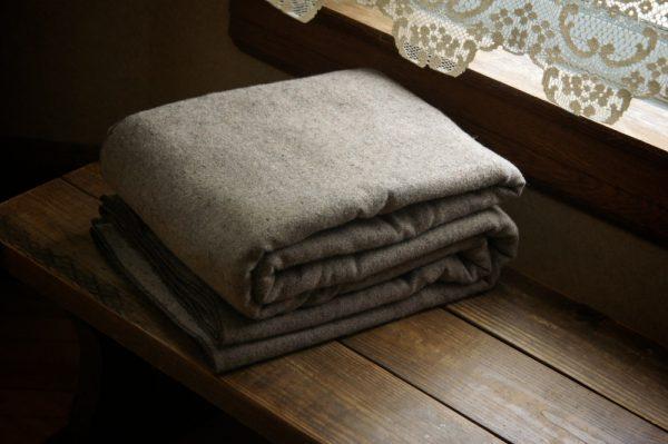 Llama Lo 100% Wool Brown Blanket